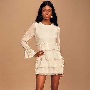 "Lulus ""Bon Appetite"" Cute Ruffle Tiered Mini Dress"
